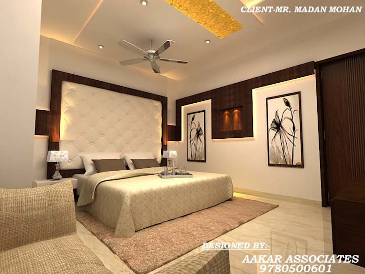 residental,commercial Classic style bedroom by aakarconstructions Classic