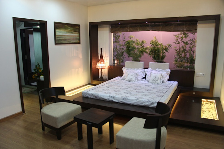 pent house for Mr. Jahagirdar At nanded 4th axis design studio Modern style bedroom