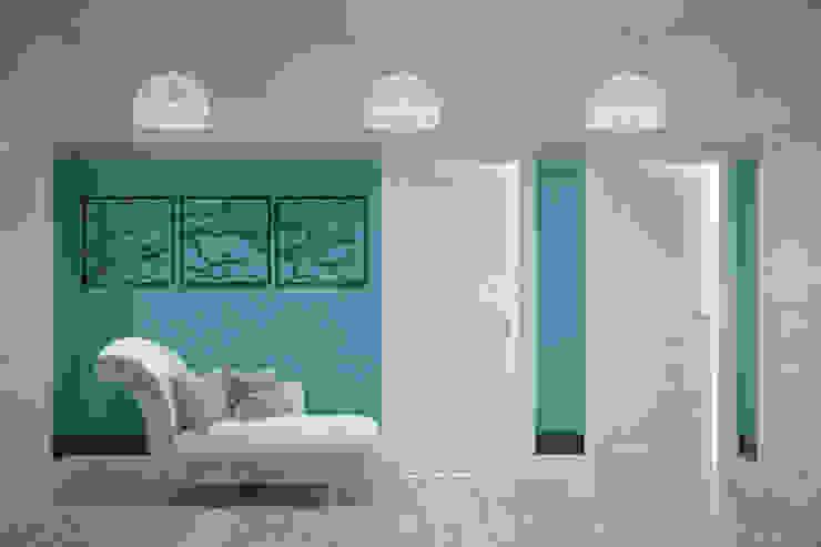 Дизайн прихожей в Геленджике Коридор, прихожая и лестница в средиземноморском стиле от Студия интерьерного дизайна happy.design Средиземноморский