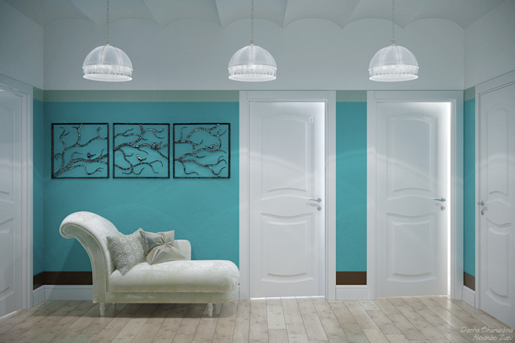 Koridor & Tangga Gaya Mediteran Oleh Студия интерьерного дизайна happy.design Mediteran