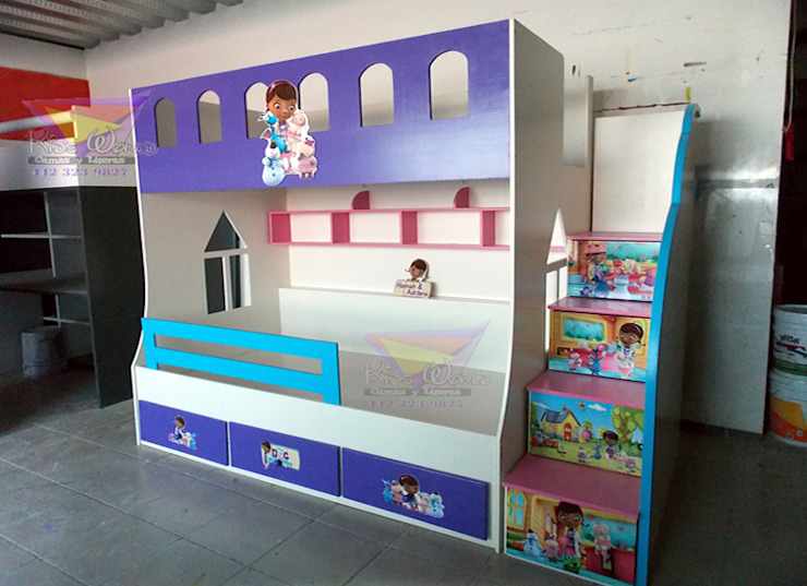 Litera juvenil de la doctora juguetes de camas y literas infantiles kids world Moderno Derivados de madera Transparente