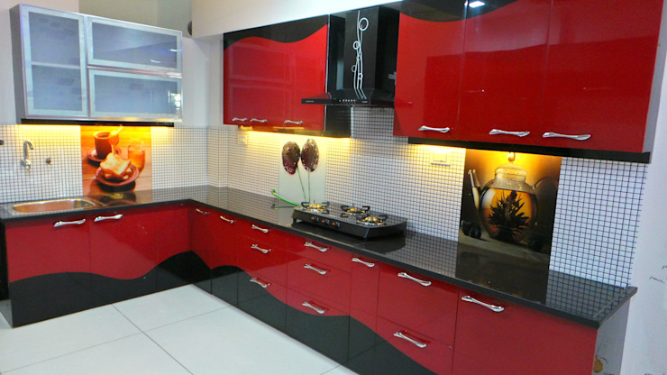 Modern style kitchen by Shadab Anwari & Associates. Modern