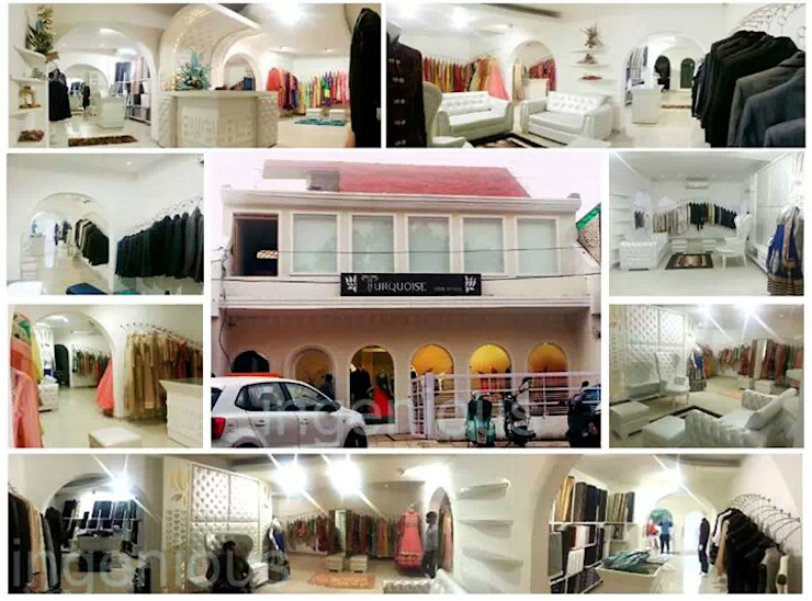 TURQUOISE -designer clothes showroom Classic style houses by Ingenious Classic