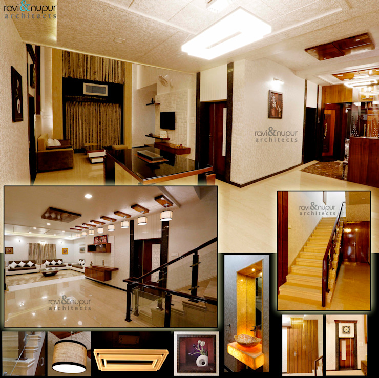 Completed Project at a glance #Residence @ Soorsagar , Jodhpur ,Rajasthan Classic style living room by RAVI - NUPUR ARCHITECTS Classic