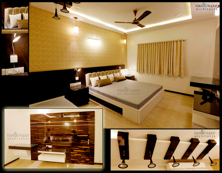 Completed Project at a glance #Residence @ Soorsagar , Jodhpur ,Rajasthan Classic style bedroom by RAVI - NUPUR ARCHITECTS Classic