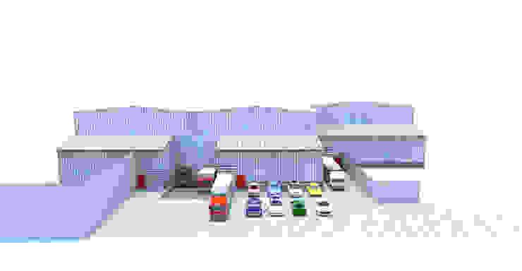 Imagen 3d Proyecto final Bodegas La Dolores Colombia Garajes de estilo clásico de Crearquitech S.A.S Clásico