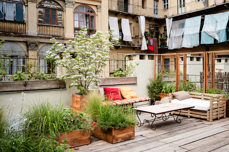 Patios & Decks by marta carraro , Rustic