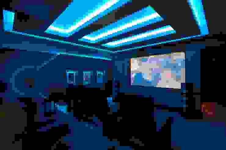 Cinema Room Modern media room by Janine Stone Design Modern Bricks