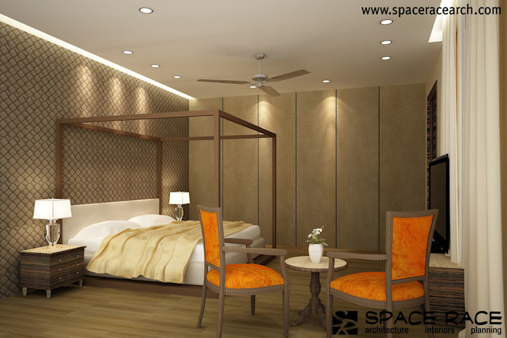 Residence at Lajpat Nagar Jalandhar (Bantu Sabhawal) Classic style bedroom by SPACE RACE ARCHITECTS Classic