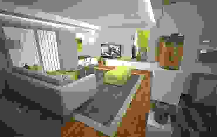 Sala e Cozinha DA Salas de estar modernas por Areabranca Moderno