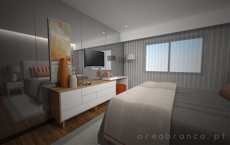 Modern style bedroom by Areabranca Modern