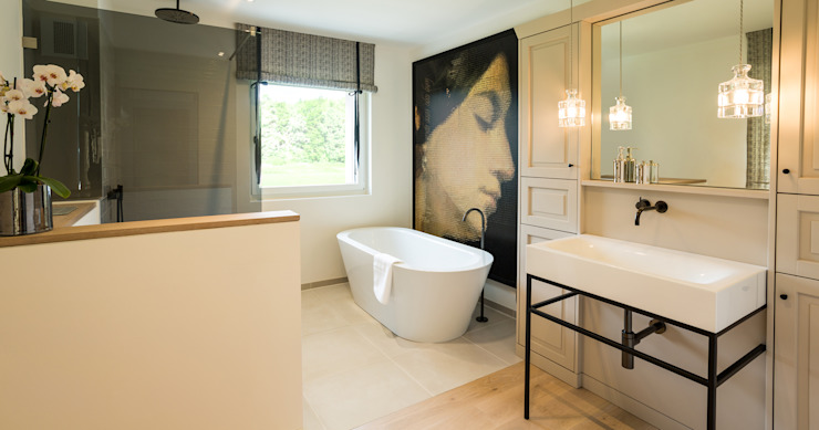 Modern bathroom by Bau-Fritz GmbH & Co. KG Modern