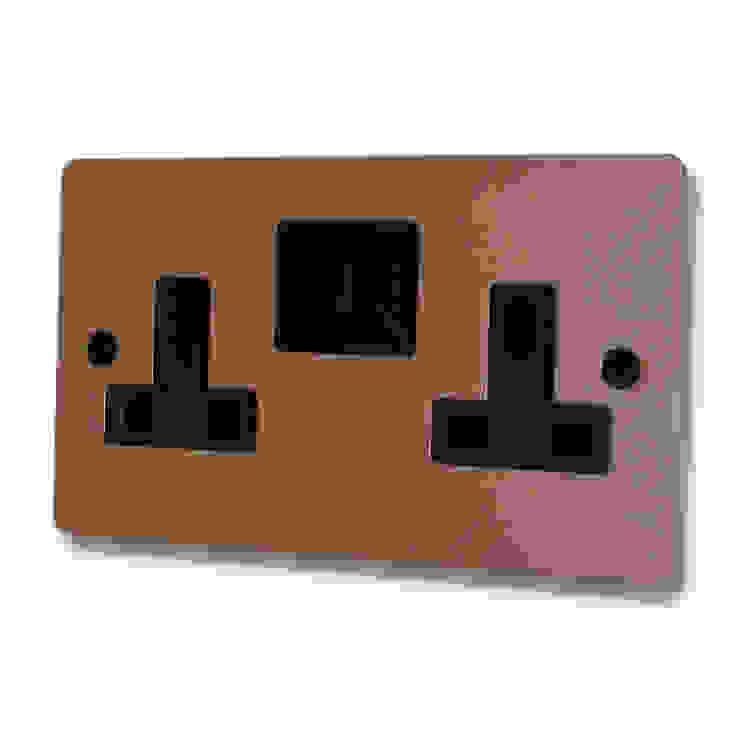 Flat bright copper socket Socket Store HaushaltAccessoires und Dekoration