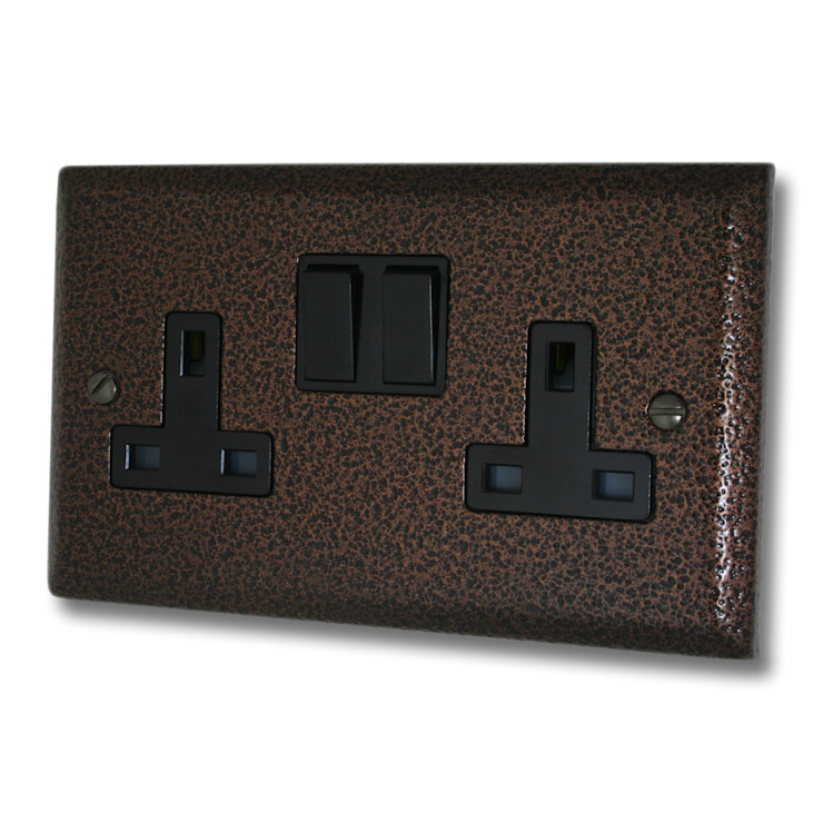 Hammered copper socket Socket Store HaushaltAccessoires und Dekoration