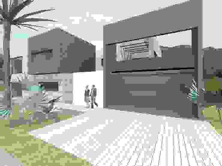 CASA LA CUMBRE Casas minimalistas de URBANIZARQ Minimalista Ladrillos