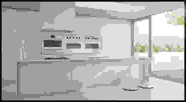 Casa Nordelta Cocinas minimalistas de MODULUS ARQUITECTURA Minimalista