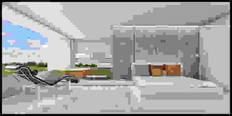 Casa Nordelta Dormitorios minimalistas de MODULUS ARQUITECTURA Minimalista