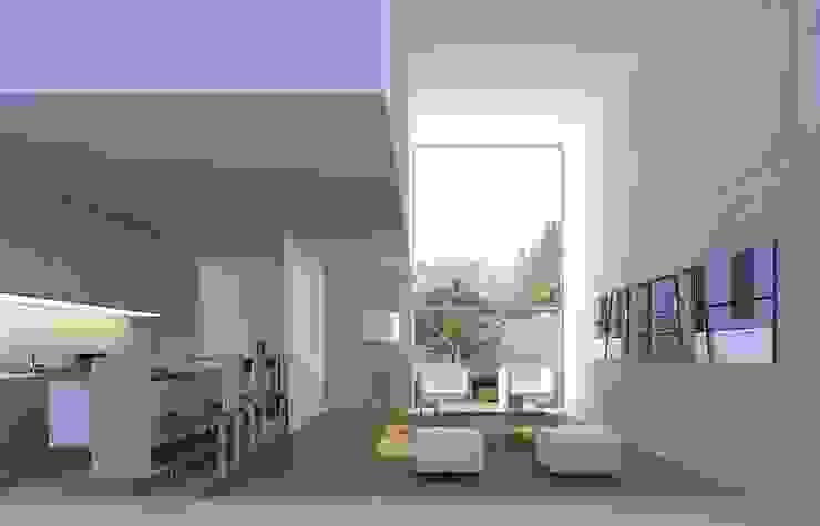 Duplex Salones minimalistas de LIMMIT Minimalista