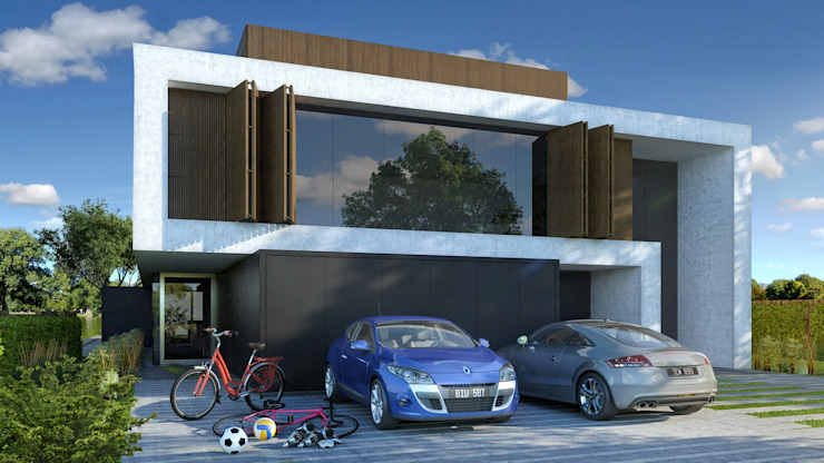 Minimalist houses by MODULUS ARQUITECTURA Minimalist