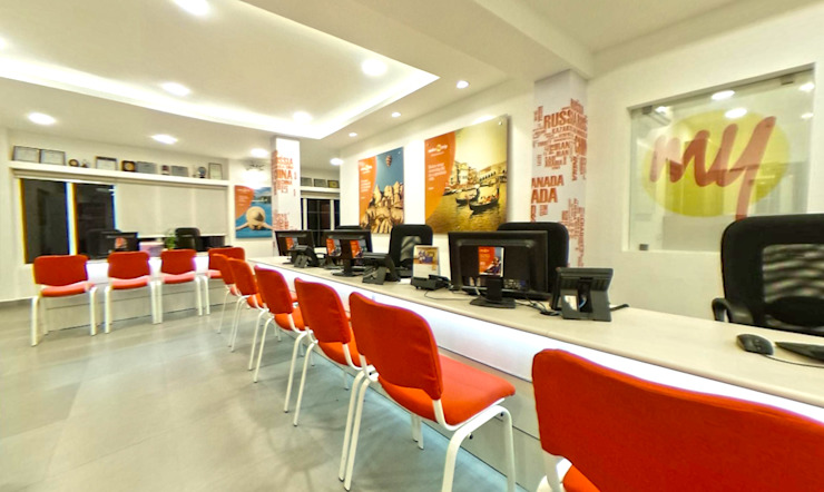 Makemytrip office-chennai Designink Architecture and Interiors Office buildings