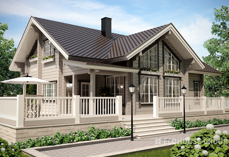 Classic style houses by EcoHouse Group Classic Wood Wood effect