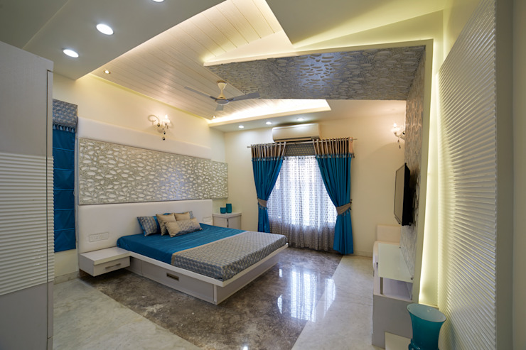 SADHWANI BUNGALOW Modern style bedroom by 1 Square Designs Modern
