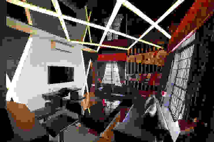 Ruang Media Modern Oleh Square 9 Designs Modern