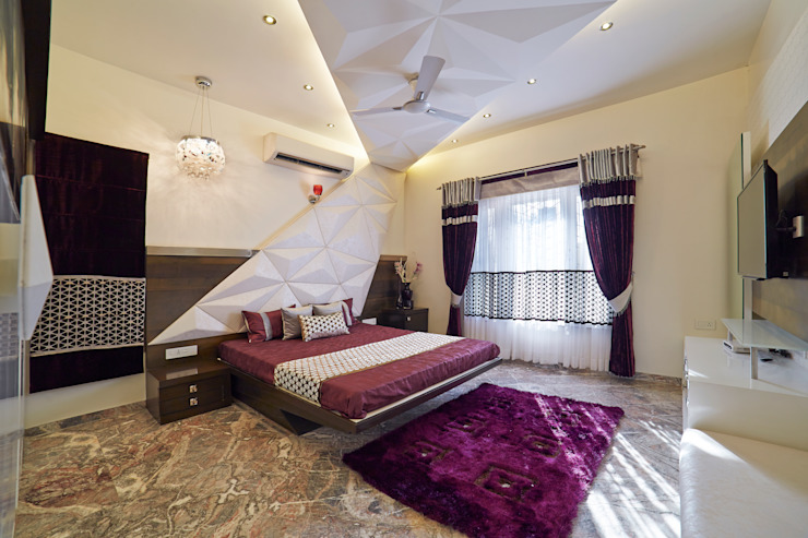 SADHWANI BUNGALOW Modern style bedroom by Square 9 Designs Modern
