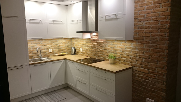 Rustic style kitchen by ITA Poland s.c. Rustic Bricks