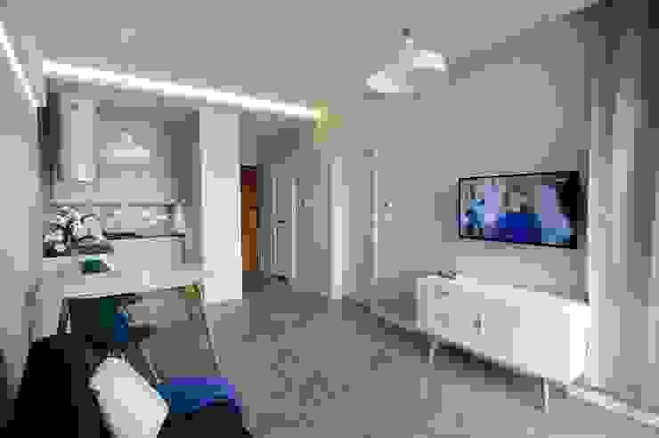Scandinavian style living room by ARTEMA PRACOWANIA ARCHITEKTURY WNĘTRZ Scandinavian