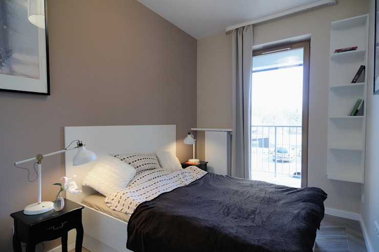 Scandinavian style bedroom by ARTEMA PRACOWANIA ARCHITEKTURY WNĘTRZ Scandinavian