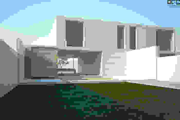 CASA BI-FAMILIAR AG_PÓVOA DE VARZIM_2011 Casas minimalistas por PFS-arquitectura Minimalista