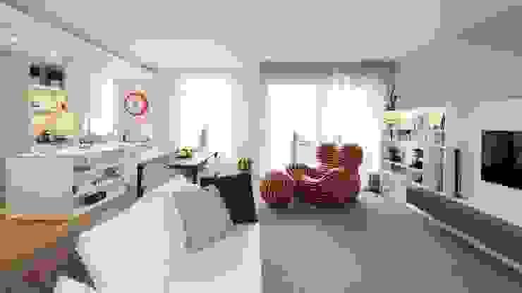 غرفة المعيشة تنفيذ Studio Associato Casiraghi , تبسيطي