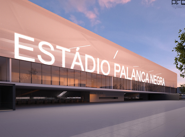 ESTÁDIO PALANCA NEGRA_ANGOLA_2012 Estádios modernos por PFS-arquitectura Moderno