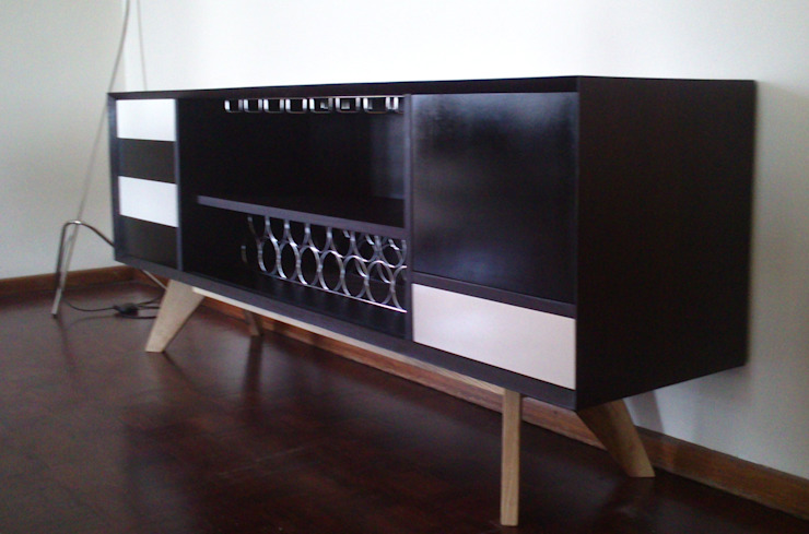 Drinks cabinet: modern  by GreenCube Design Pty Ltd, Modern Wood Wood effect