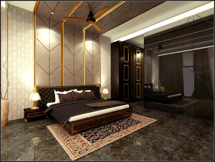 house interiors:  Bedroom by Vinyaasa Architecture & Design