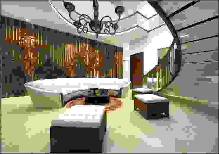 Modern Corridor, Hallway and Staircase by Vinyaasa Architecture & Design Modern