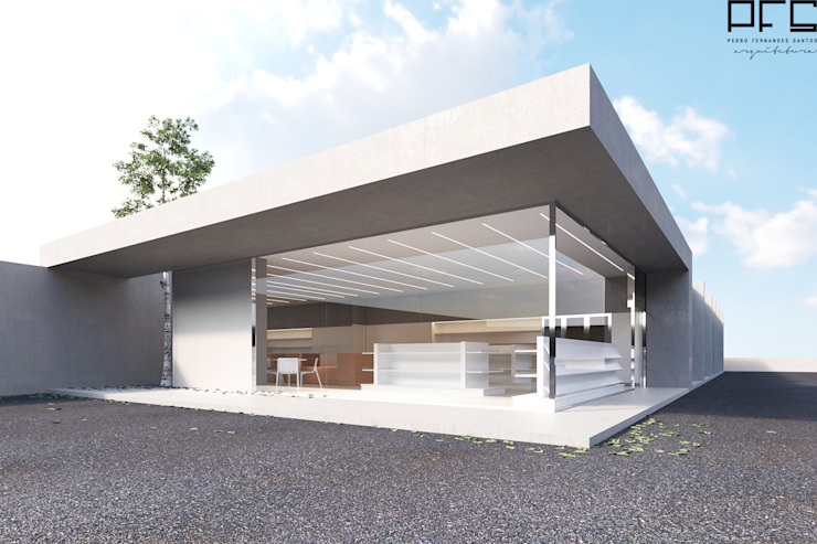 Minimalistische kantoor- & winkelruimten van PFS-arquitectura Minimalistisch