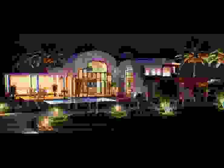 ultra modern bungalows Mediterranean style houses by Vinyaasa Architecture & Design Mediterranean