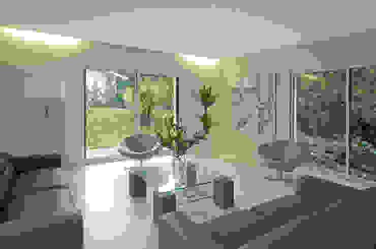 Salon:  de style tropical par Pierre Bernard Création, Tropical
