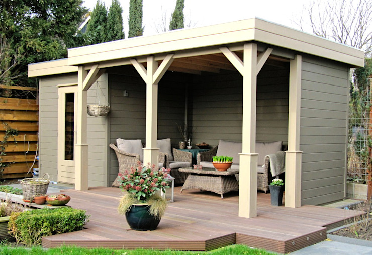 Prima Capri Gazebo Modern Garden by Garden Affairs Ltd Modern Wood Wood effect
