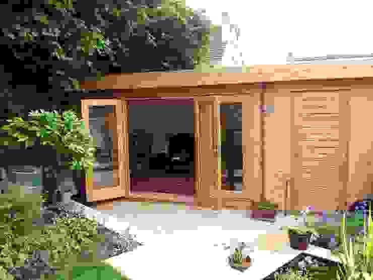 The Somerset Log Cabin Garden Affairs Ltd Moderne studeerkamer Hout Hout