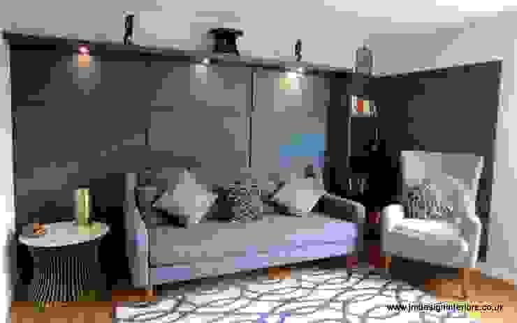 Midcentury Modern Lounge Diner JMdesign Soggiorno moderno Blu