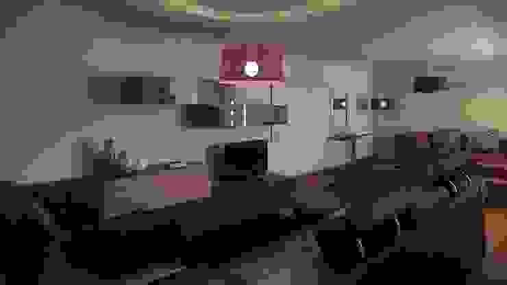 Interior por Judite Barbosa Arquitetura Moderno Pele Cinzento