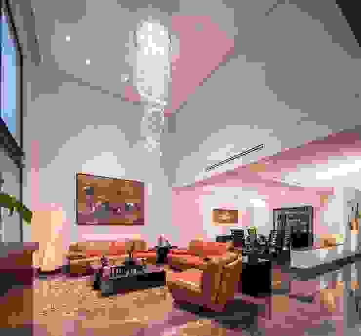 Sala naranja URBN Salas de estilo moderno