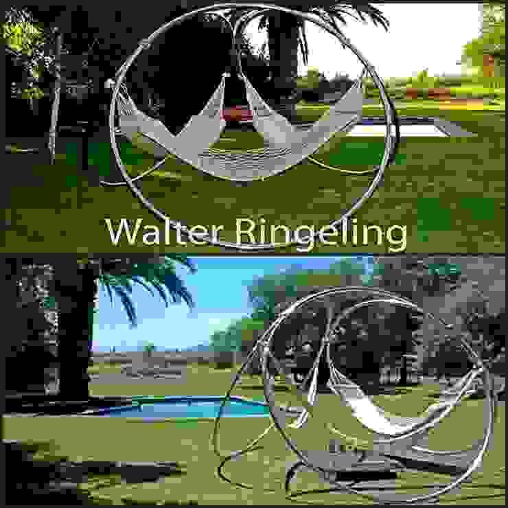Porta Hamacas Triple de Walter Ringeling Diseño & Mobiliario Moderno Hierro/Acero