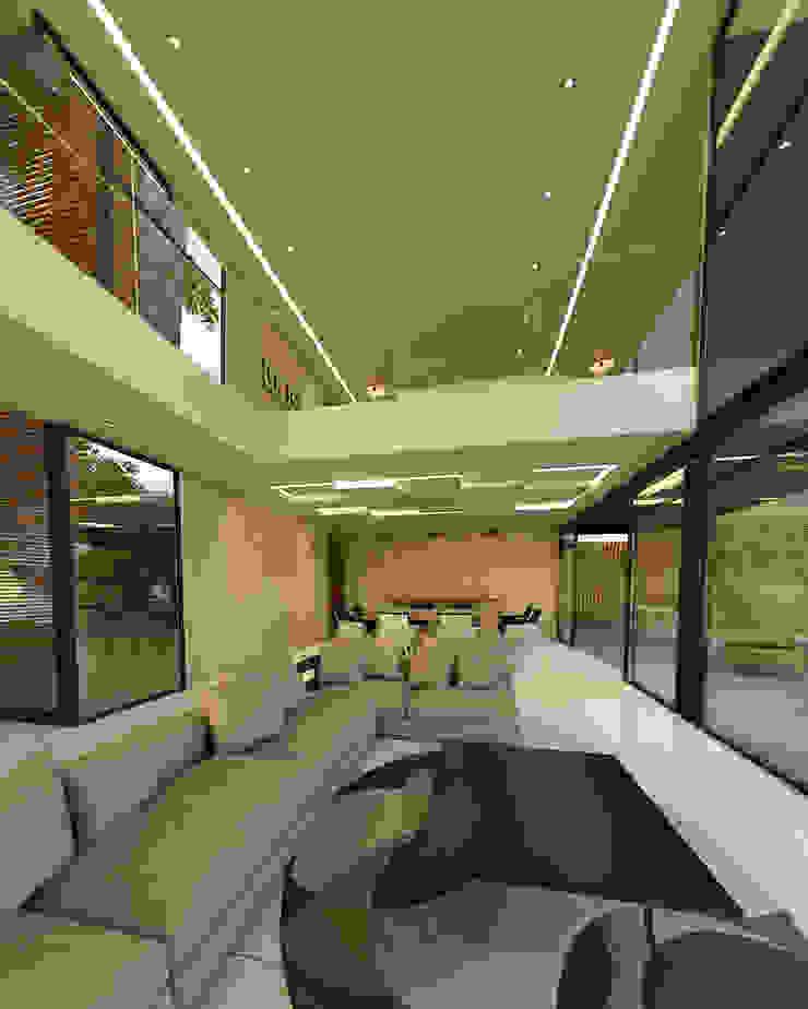 Vista desde la sala Salones minimalistas de RecreARQ Construcciones Minimalista
