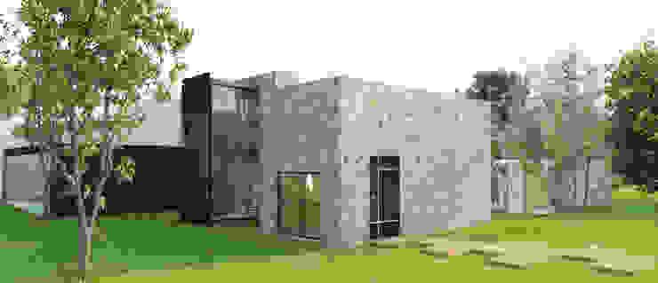 Acceso principal Casas minimalistas de RecreARQ Construcciones Minimalista