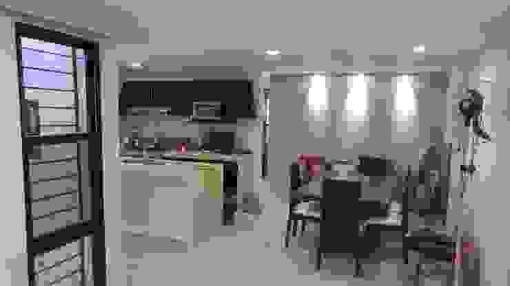 Vista del Comedor y Cocina de RecreARQ Construcciones
