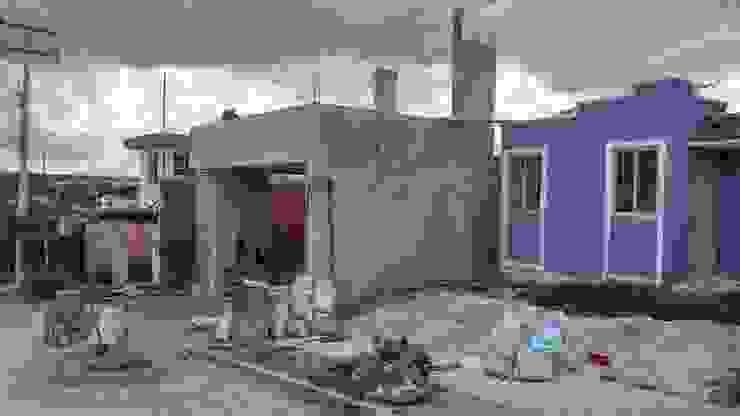 Vista fachada proceso de RecreARQ Construcciones